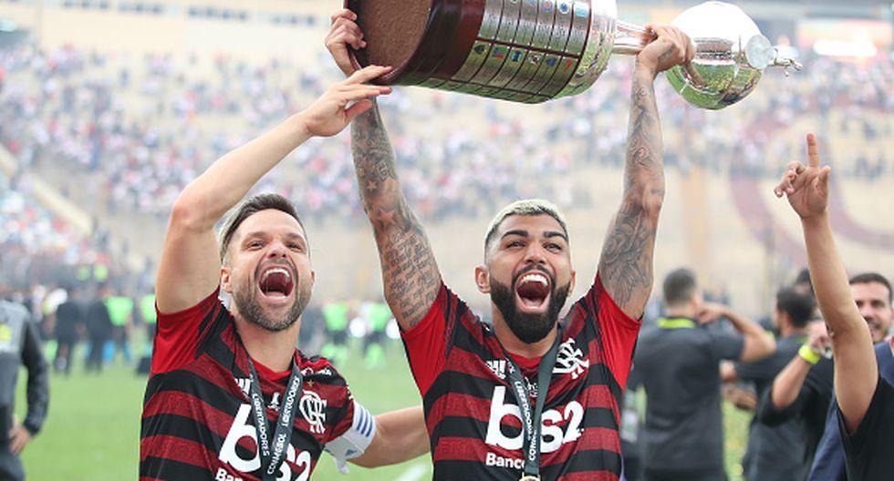 'Gabigol' anotó los dos goles que hicieron campeón al Flamengo en la Copa Libertadores 2019. (Getty Images)