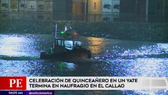 Celebración de quinceañero en un yate casi termina en tragedia. (Captura: América Noticias)