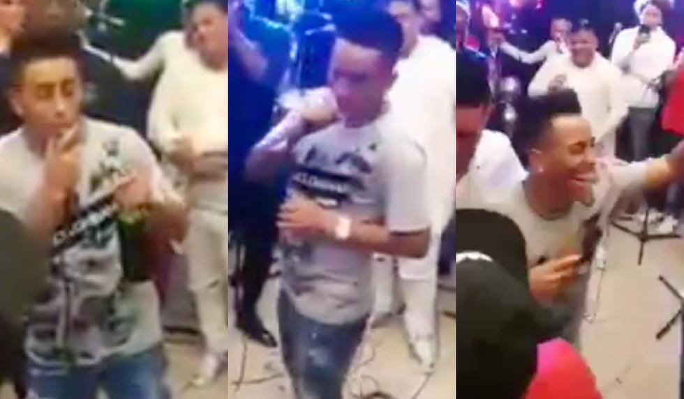 Christian Cueva se robó el show durante el cumpleaños de Carlos Zambrano. (Captura pantalla)