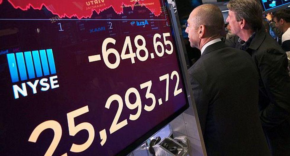 El aumento de las tensiones comerciales entre China y Estados Unidos lastraron Wall Street en la víspera, y el Dow Jones cayó2.38%. (Foto: AP)