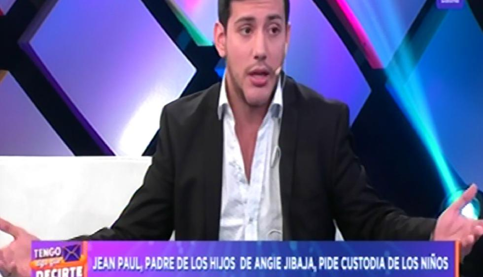 Jean Paul Santa María quiere la custodia de sus hijos con Angie Jibaja   Foto: Captura de pantalla Latina.
