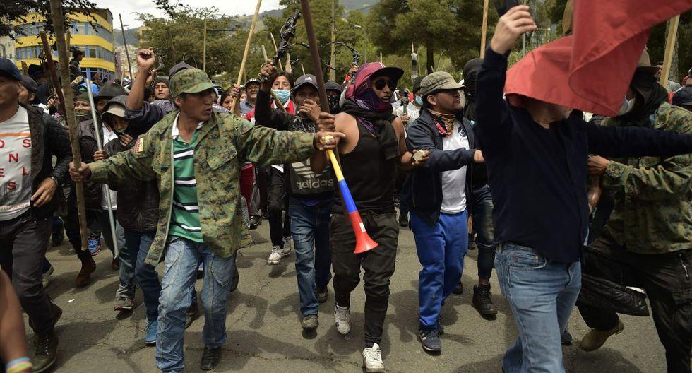 Los enfrentamientos en Ecuador han recrudecido en las últimas horas con la llegada de miles de indígenas a Quito, lo que ha provocado la evacuación del Palacio presidencial y el traslado de la sede de Gobierno a Guayaquil. (Foto: AFP)