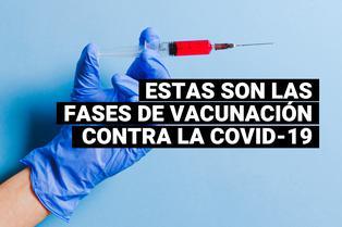 Estas son las fases de vacunación contra el COVID-19