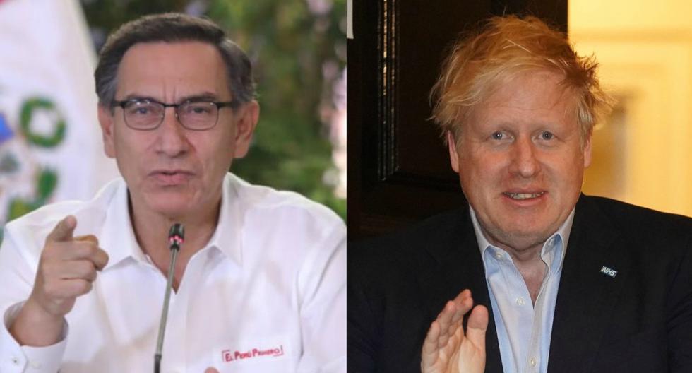 El presidente Martín Vizcarra se refirió en su conferencia diaria a la delicada situación que atraviesa Boris Johnson. (Presidencia Perú - AFP).