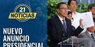 Martín Vizcarra anuncia nuevas medidas contra el coronavirus