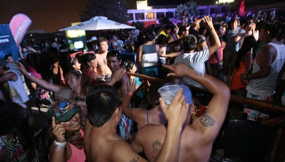 Fiesta en playas del sur