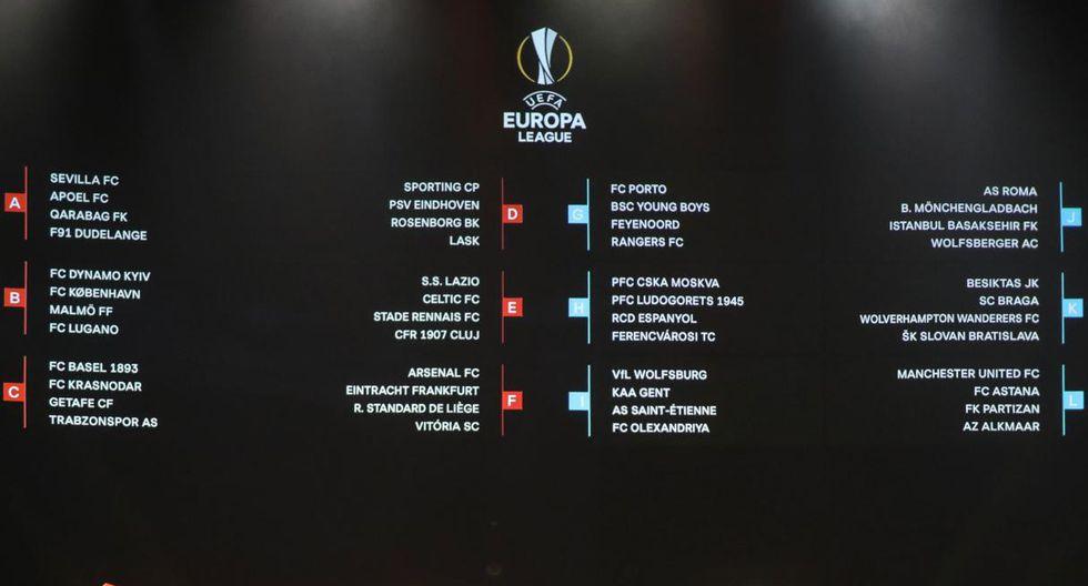Así quedaron formados los grupos de la Europa League. (Foto: AFP)