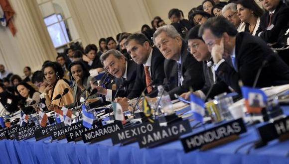Largo debate. Cancilleres del Perú y de demás países de la OEA debatieron durante más de 12 horas. (Difusión)
