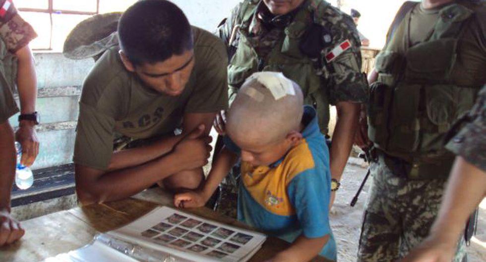 SECUESTRADOS. Antes las fuerzas del orden ya han rescatado a niños de las garras de SL. (Difusión)