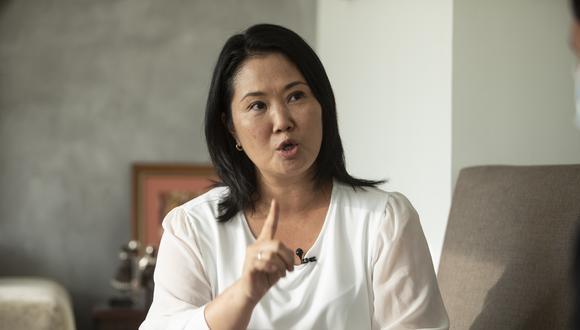 """""""Le pido a la población que no se deje confundir por esos falsos profetas que existen desde tiempos bíblicos"""", manifestó Keiko Fujimori . (Foto: GEC)"""