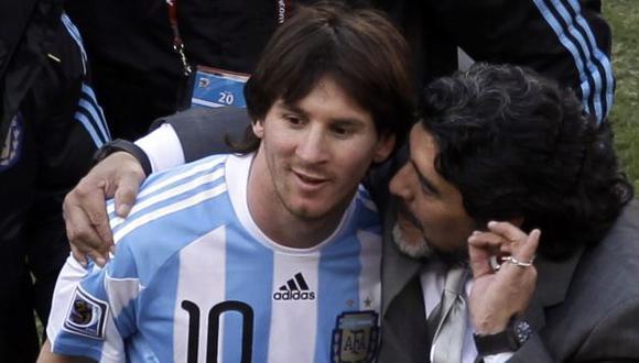 """""""Dejémoslo escribir su propia historia"""", dijo el excrack argentino. (AP)"""