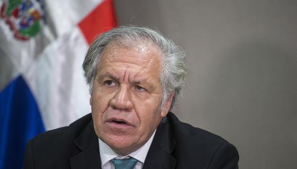 Pese a que la OEA, que tiene su sede en Washington, aún realiza las sesiones del Consejo Permanente de forma virtual, Luis Almagro ha mantenido su agenda en forma personal.(Foto: Erika SANTELICES / AFP)