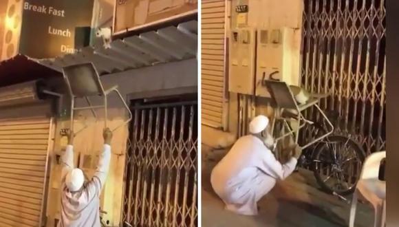 El rescate del gato se logró de una forma ingeniosa. (Foto: NYOOOZ TV | YouTube)