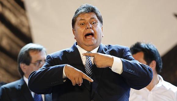 Alan García apelará el fallo. (Luis Gonzales)