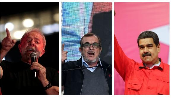Luiz Inácio Lula da Silva en Brasil, Rodrigo Londoño de las FARC en Colombia y Nicolás Maduro en Venezuela son candidatos en las elecciones en América Latina (Agencias).