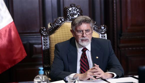 Presidente Francisco Sagasti supervisó vacunación de adultos mayores en hogar Canevaro. (Foto: Presidencia del Perú)