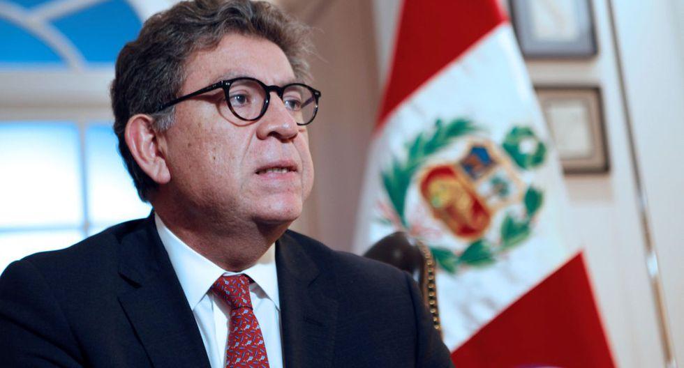 El ministro Gustavo Meza-Cuadra señaló que el candidato peruano Hugo de Zela viene siendo bien recibida.  (Foto: EFE)