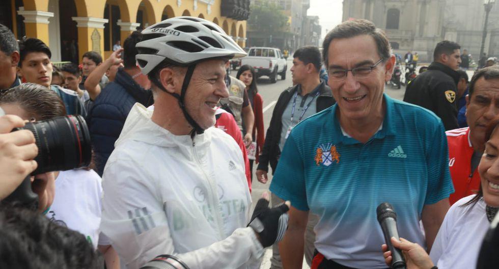 El presidente Martín Vizcarra y el alcalde Jorge Muñoz junto a otras autoridades participaron del evento. (Foto: Juan Ponce)