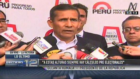 Ollanta Humala dio su apoyo a su gabinete en caso de Lote 192. (Captura de TV)
