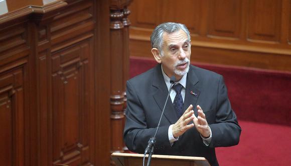 Pedro Francke, ministro de Economía y Finanzas, sustentó en el Cingreso el proyecto de ley sobre el presupuesto público para el año fiscal 2022. (Foto: MEF)