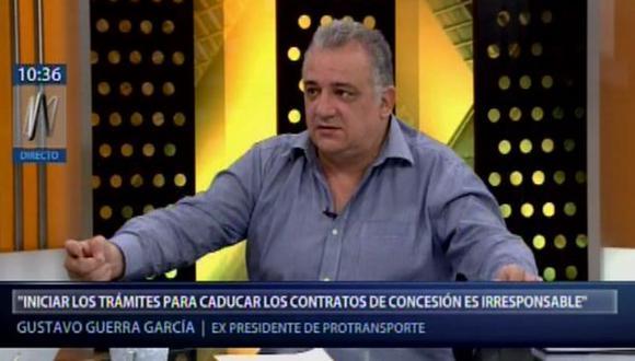 Gustavo Guerra García criticó a Luis Castañeda. (Foto: Captura/Canal N)
