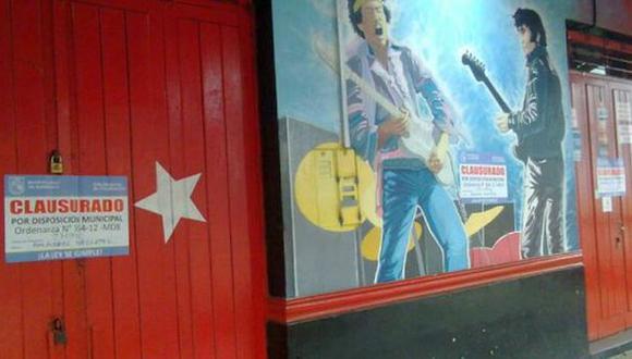 Fachada de la discoteca Wahio\'s. (Municipalidad de Barranco)