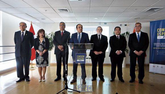La fiscal de la Nación, Zoraida Ávalos, fue la única que cuestionó la elección de Falconí y el uso de la bonificación. (GEC)