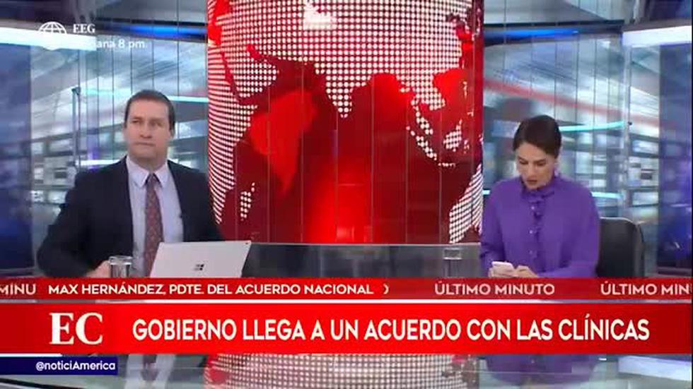 Coronavirus en Perú: Gobierno llega a buen acuerdo con clínicas