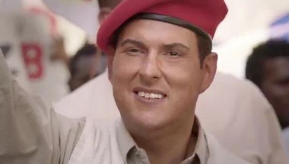 El actor colombiano Andrés Parra personificó al ex presidente de Venezuela Hugo Chávez. (infobae.com)