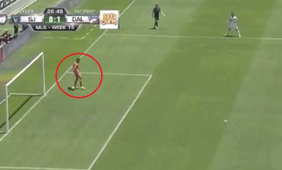 Daniel Vega cometió un error y permitió gol de FC Dallas. (Captura: YouTube)