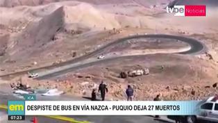 Ica: Despiste de ómnibus cobra la vida de 27 personas en carretera Nazca - Puquio