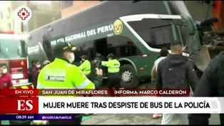 SJM: mujer muere atropellada tras despiste de bus de la Policía Nacional