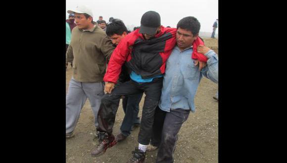 DESBORDE. En Barranca hubo, además, ocho heridos. (USI)
