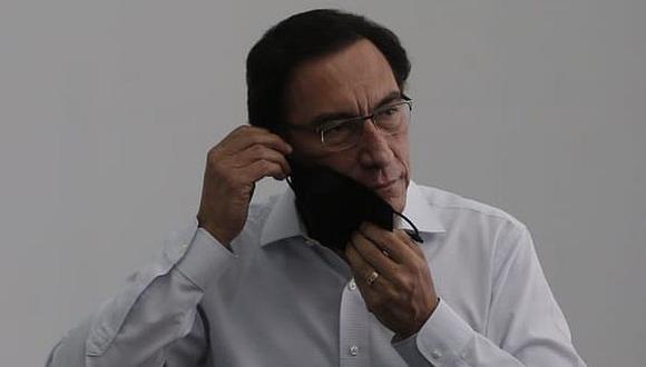 Martín Vizcarra podría ser inhabilitado si el pleno del Congreso aprueba la denuncia por el caso 'vacunagate'. (Andrés Paredes / GEC)