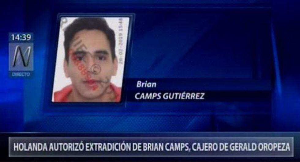 Caso Oropeza: autorizan extradición de Brian Camps a Perú
