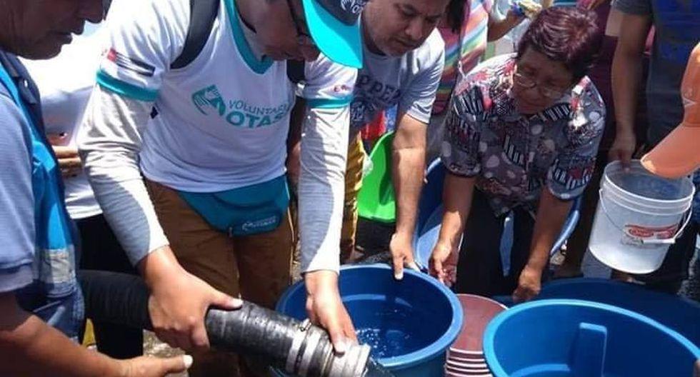 El Voluntariado OTASS está en las zonas de Sector Puerto y Pampa Inalámbrica. (Foto: OTASS)