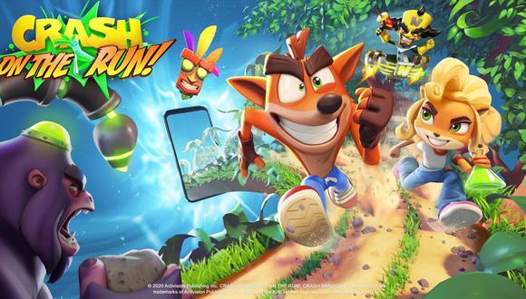 'Crash Bandicoot: On The Run' muy pronto estará llegando a dispositivos móviles. (Imagen: King)