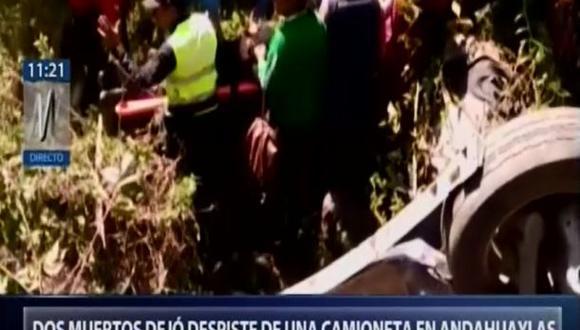 Una mujer y su hija sobrevivieron al accidente. (Foto: Captura/Canal N)