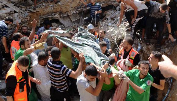 ataque frontal. Israel y Hamas continuaron lanzando misiles. (AFP)