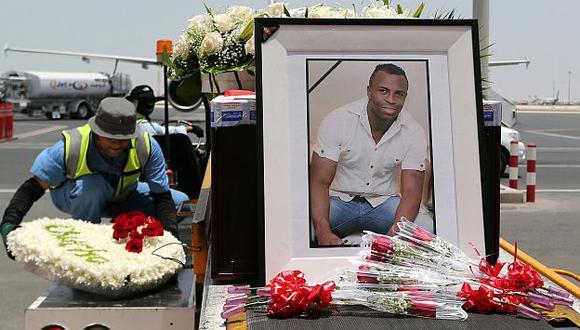 Los restos de Benítez parten de Qatar rumbo a Ecuador. (AFP)