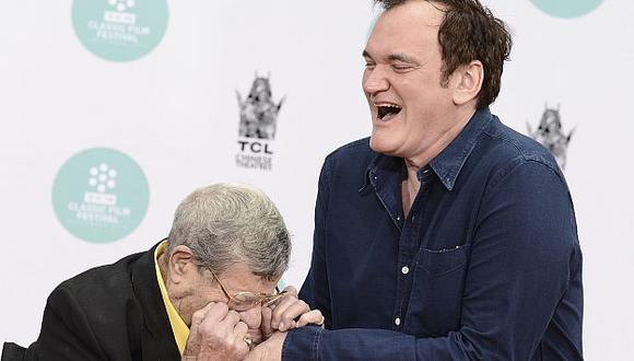 Jerry Lewis le mordió la mano de Quentin Tarantino. (AP)