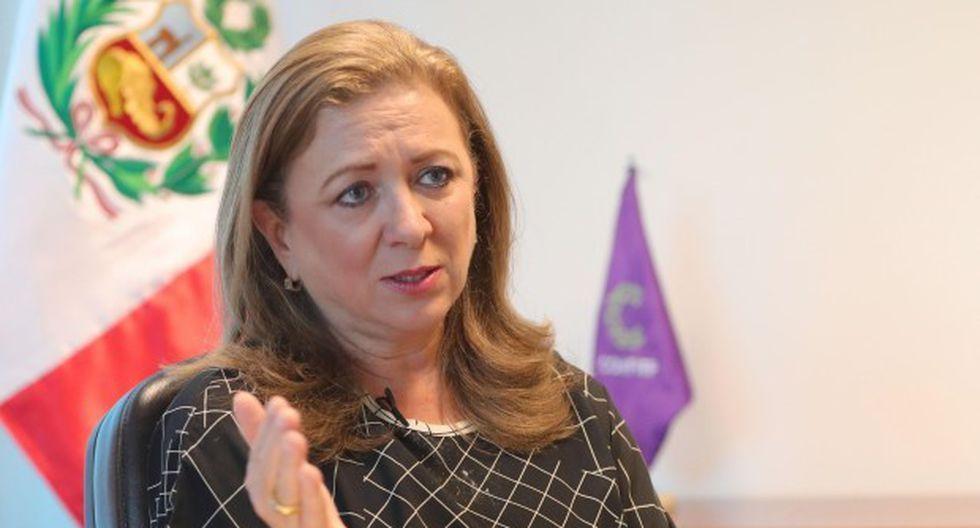 María Isabel León exhortó a los empresarios a que hagan aportes a campañas políticas de manera personal. (Foto: GEC)