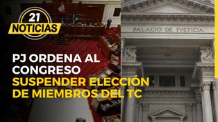 Ordenan al Congreso suspender elección de miembros del TC