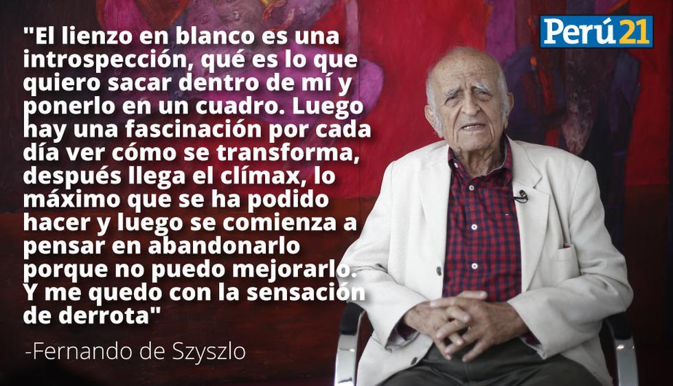 Fernando de Szyszlo apostó por el arte abstracto y fue criticado, pero no renunció. (Renzo Salazar/Perú21)