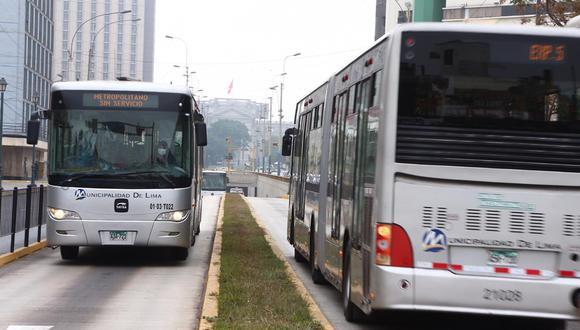 Los buses troncales del Metropolitano movilizarán a 70 usuarios, lo que supone un incremento en el aforo de 26% a 43% de capacidad. (Foto: GEC)