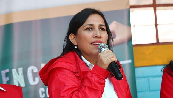 La ministra Flor Pablo anunció que durante este 2019 se ha creado diversas estrategias para aquellos estudiantes de las universidades que no fueron licenciadas por la Sunedu. (Foto: Andina)