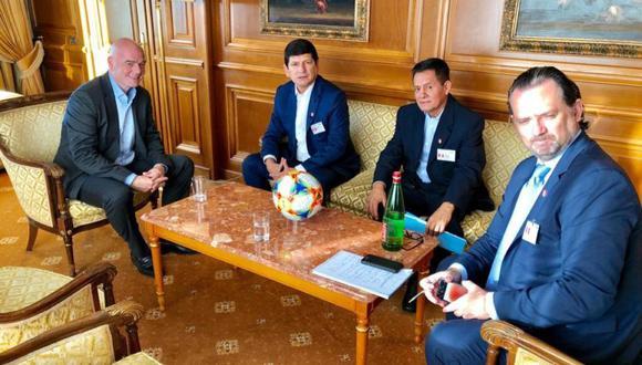 En la sesión plenaria se comentaron los planes para nuevas competiciones como una Liga de Naciones a nivel mundial y el nuevo formato de la Copa Mundial de Clubes. (Foto: FPF)
