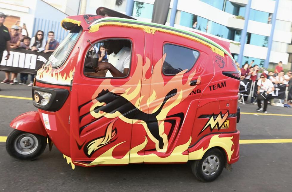 Usain Bolt manejó mototaxi contra el que compitió y casi atropella al chofer. (Giancarlo Avila / GEC)