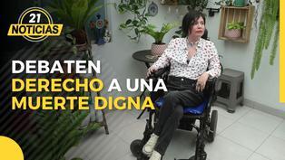 Debaten el derecho de Ana Estrada a una muerte digna