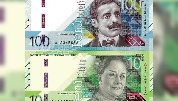 El BCR señaló que los nuevos billetes de S/ 10 y S/ 100 fueron fueron realizados por la empresa inglesa De La Rue International Limited. (Fotos: BCR)